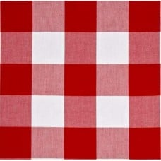 Gingham Red in 50mm Check Cotton Fabric Fabric Traders