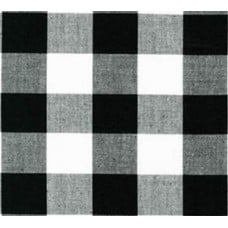 REMNANT - Gingham Black and White in 25mm Check Cotton Fabric