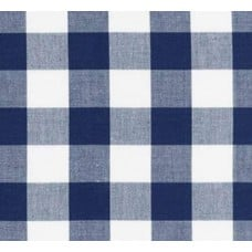 Gingham Blue and White in 25mm Check Cotton Fabric Fabric Traders