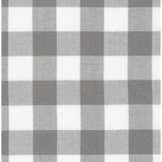 Gingham Grey and White in 25mm Check Cotton Fabric