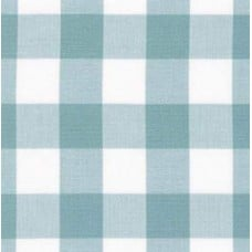 Gingham Light Blue and White in 25mm Check Cotton Fabric