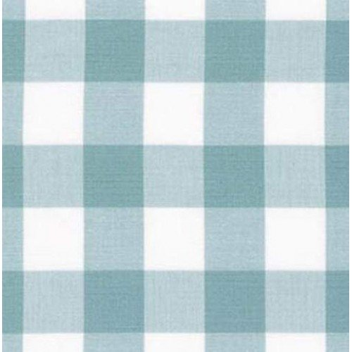 Gingham Light Blue And White In 25mm Check Cotton Fabric Fabric Traders