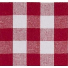 Gingham Red in 25mm Check Cotton Fabric