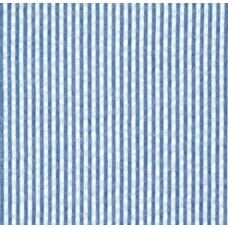 Seersucker Stripe Cotton Fabric in Navy and White