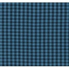 Gingham Cotton Fabric in Indigo and Black