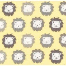 Flannel Cotton Fabric Lions Yellow Fabric Traders