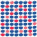 Jersey Knit Stretch Fabric in Apples Blues and Red Fabric Traders