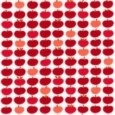 Jersey Knit Stretch Fabric in Apples Red
