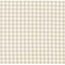 Gingham Cotton Fabric in Sand