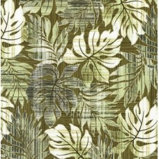 Tropical Leaves in Green Cotton Fabric by Robert Kaufman