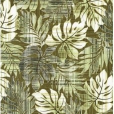 Tropical Leaves in Green Cotton Fabric by Robert Kaufman  Fabric Traders