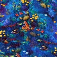 Ocean from Picture This Cotton Fabric by Robert Kaufman