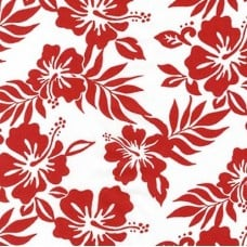 Hibiscus Flowers Cotton Fabric by Robert Kaufman in Red