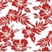 Hibiscus Flowers Cotton Fabric by Robert Kaufman in Red Fabric Traders