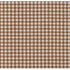 Gingham Cotton Fabric in Chocolate