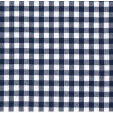 Gingham Cotton Fabric in Navy