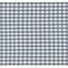 Gingham Cotton Fabric in Silver
