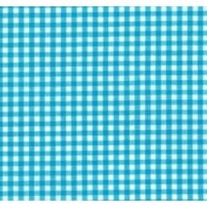 Gingham Cotton Fabric in Turquoise