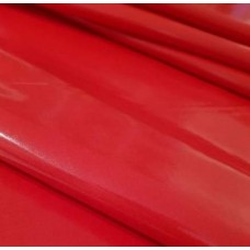 Laminated Gloss Finish Waterproof Fabric in Red Fabric Traders