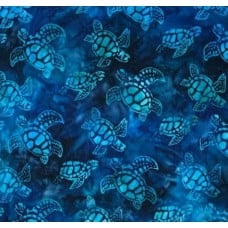 Baby Turtles Cotton Fabric in Blue