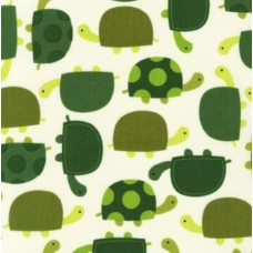 Grass Urban Zoologie Turtle Cotton Fabric