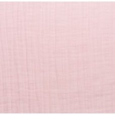 Double Gauze  Muslin Solid Embrace Fabric in Baby Pink