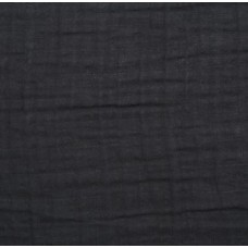 Double Gauze  Muslin Solid Embrace Fabric in Black Fabric Traders
