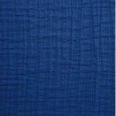 Double Gauze  Muslin Solid Embrace Fabric in Cobalt Fabric Traders