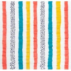 Double Gauze  Muslin Willy Nilly Embrace Fabric in Rainbow