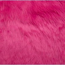 Faux Fur Luxury Shag Fabric in Hot Pink Fabric Traders
