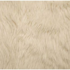 Faux Fur Luxury Shag Fabric in Ivory Fabric Traders