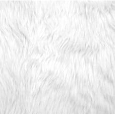 Faux Fur Luxury Shag Fabric in White Fabric Traders