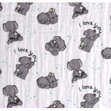 Lightweight Cotton Gauze Muslin Fabric Little Elephants Fabric Traders
