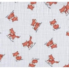 Lightweight Cotton Gauze Muslin Fabric Foxes