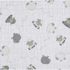 Lightweight Cotton Gauze Muslin Fabric in Sheep