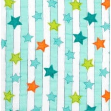 Double Gauze  Muslin Lucky Star Embrace Fabric in Saltwater Fabric Traders