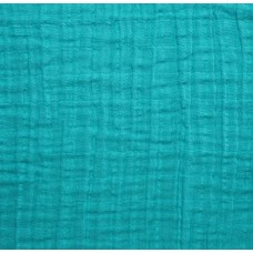 Double Gauze  Muslin Solid Embrace Fabric in Teal Fabric Traders