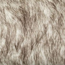 Faux Fur Russian Husky Fur in White And Brown Fabric Traders