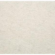 Faux Fur Sherpa Fabric in Ivory