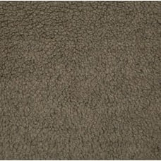 Faux Fur Sherpa Fabric in Taupe