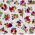 Scattered Colourful Dogs Cotton Fabric