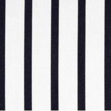 Stripe Narrow Deep Blue and White Indoor Outdoor Fabric