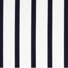 Stripe Narrow Deep Blue and White Indoor Outdoor Fabric Fabric Traders