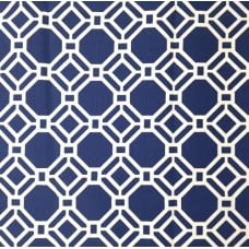 Geometric Windsol in Blue Indoor Outdoor Fabric
