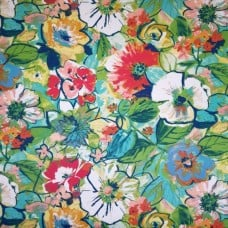 Flowers and Foliage Indoor Outdoor Fabric