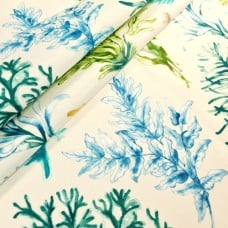 Tropical Water Sea Foliage Outdoor Fabric by Swavelle Mill Creek