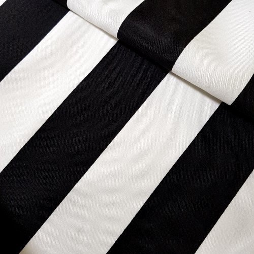 Striped Outdoor Fabric In Black And White Fabric Traders