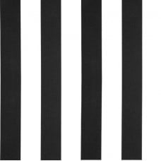 REMNANT - Striped Outdoor Fabric in Black and White 1