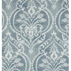 Damask in Bold Motif Chambray Cotton Home Decor Fabric