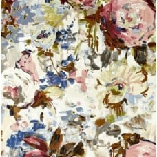 Floral Palette Glenburn Luxe Home Decor Cotton Fabric in Smoke